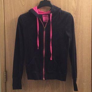 (SET) Small Black Velour jacket and pants JENNI